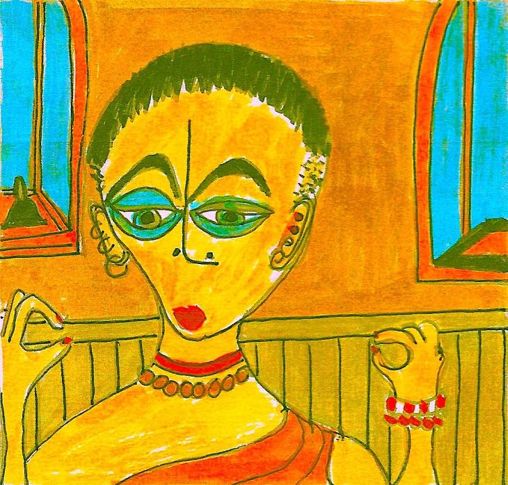 12. Monk meditating